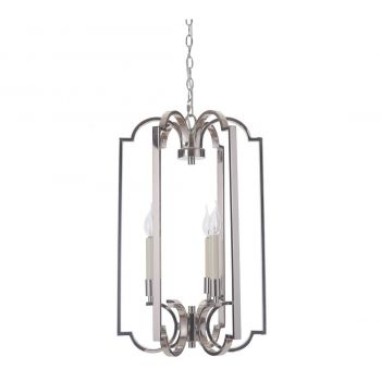 Jeremiah Crescent 3-Light Foyer in Polished Nickel