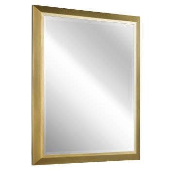 Kichler Transitional Mirror in Natural Brass