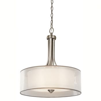 Kichler Lacey 3-Light Inverted Pendant in Antique Pewter