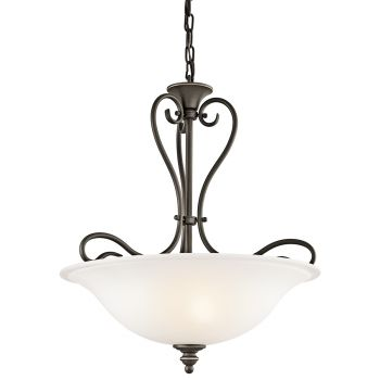 "Kichler Tanglewood 3-Light 18"" Small Inverted Pendant in Olde Bronze"