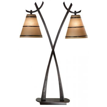 Kenroy Home Wright 2-Light Table Lamp in Oil Rubbed Bronze