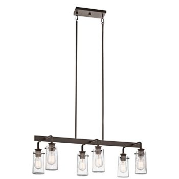 Kichler Braelyn 6-Light Double Linear Chandelier in Olde Bronze
