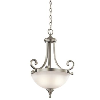 Kichler Monroe 2-Light Inverted Small Pendant in Brushed Nickel