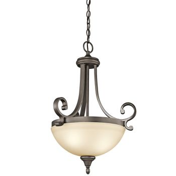 Kichler Builder Monroe 2-Light Inverted Pendant in Olde Bronze