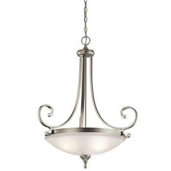 Kichler Monroe 3-Light Inverted Medium Pendant in Brushed Nickel