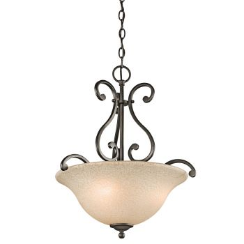 Kichler Builder Camerena 3-Light Inverted Pendant in Olde Bronze