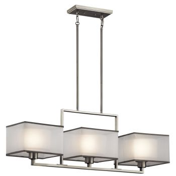 Kichler Kailey 3-Light Chandelier Linear (Single) in Brushed Nickel