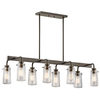 Kichler Braelyn 8-Light Chandelier Linear (Double) in Olde Bronze