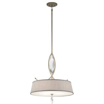 Kichler Casilda 3-Light Shade Pendant in Sterling Gold