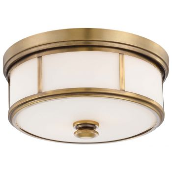 Minka Lavery Harbour Point 2-Light Flush Mount in Gold
