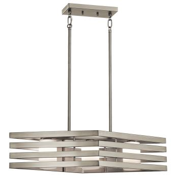 Kichler Realta 3-Light Linear Chandelier in Brushed Nickel