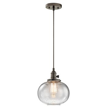"Kichler Avery 9.75"" Mini Pendant in Olde Bronze"