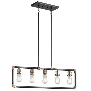 Kichler Imahn 5-Light Linear Chandelier in Black