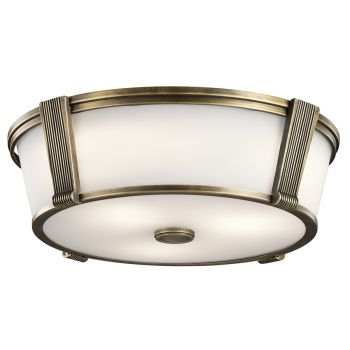 Kichler Grayson 2-Light Flush Mount in Natural Brass