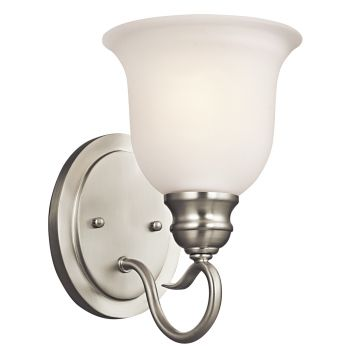 "Kichler Tanglewood 1-Light 9.25"" Wall Sconce in Brushed Nickel"