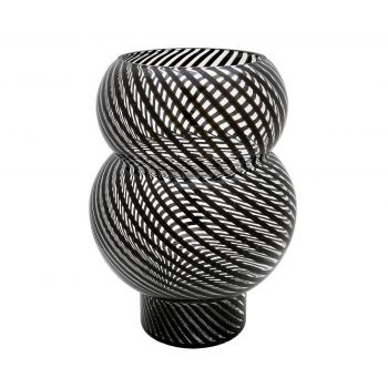 Dimond Home Bubble Vase in Black And Clear