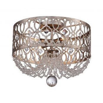 Minka Lavery Lucero 4-Light Flush Mount in Florentine Silver