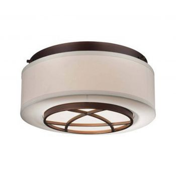 Minka Lavery City Club 2-Light Flush Mount in Cimmaron Bronze