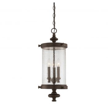 Savoy House Palmer Outdoor Hanging Lantern in Walnut Patina