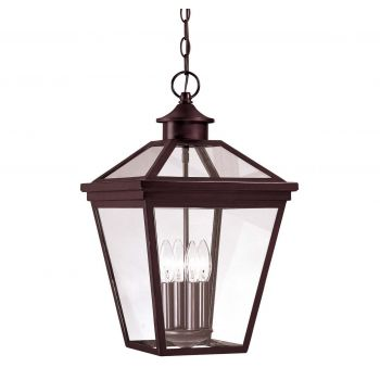 "Savoy House Ellijay 12"" Outdoor Hanging Lantern in English Bronze"