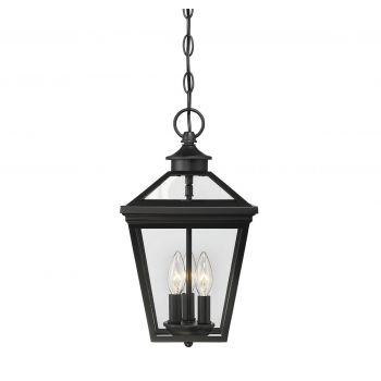 "Savoy House Ellijay 9"" Steel Hanging Lantern in Black"