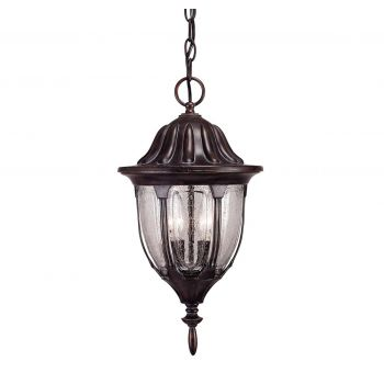 Savoy House Tudor Outdoor Hanging Lantern in Bark & Gold