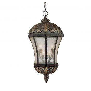 Savoy House Ponce de Leon Outdoor Hanging Lantern in Old Tuscan