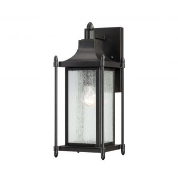 "Savoy House Dunnmore 16"" Outdoor Wall Lantern in Black"