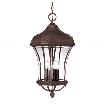 Savoy House Realto Outdoor Hanging Lantern in Walnut Patina