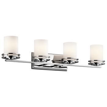 Kichler hendrik 4 light bath vanity in chrome