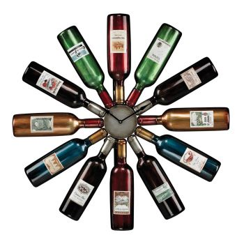Sterling Industries Wine Bottle Clock in Accentuate