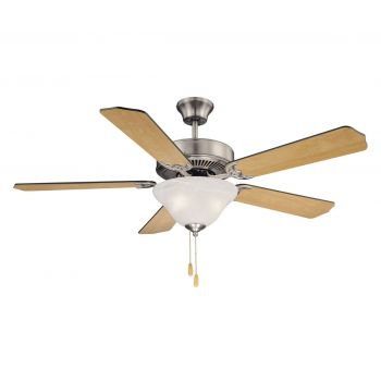 "Savoy House First Value 52"" 2-Light Ceiling Fan in Satin Nickel"