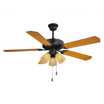 "Savoy House First Value 52"" 3-Light Ceiling Fan in English Bronze"