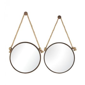 Sterling Industries 2-Set Mirrors On Rope - Round