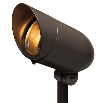 "Hinkley Signature 8.5"" Line Voltage Landscape Spot Light in Bronze"