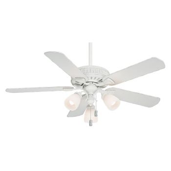 """Casablanca 54"""" Ainsworth Gallery Ceiling Fan in Cottage White"""