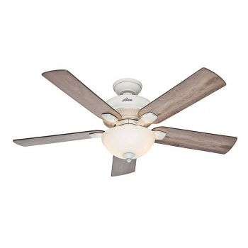 "Hunter Matheston 52"" Outdoor Ceiling Fan in Cottage White"