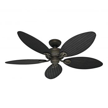 "Hunter Bayview 54"" Outdoor Ceiling Fan in Provencal Gold"