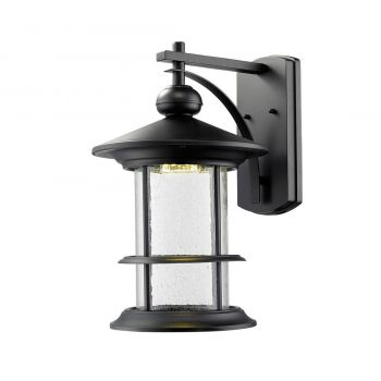 "Z-Lite Genesis 19.38"" Outdoor LED Wall Lantern in Black"