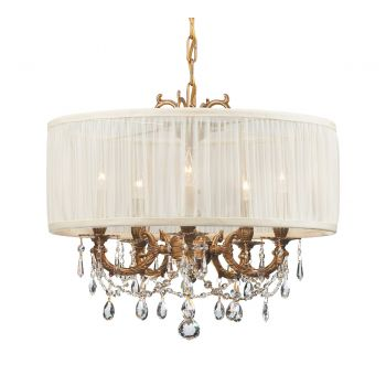 Crystorama Gramercy 5-Light Drum Shade Chandelier