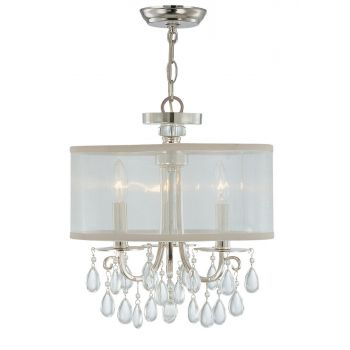 Crystorama Hampton 3-Light Drum Shade Chandelier