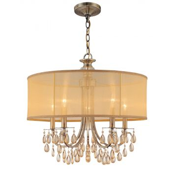 Crystorama Hampton 5-Light Drum Shade Chandelier
