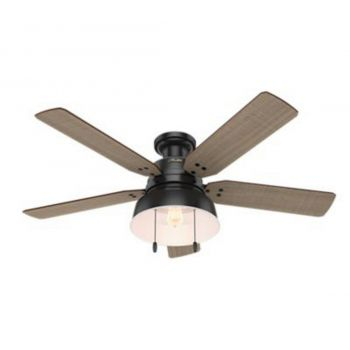 "Hunter Mill Valley 52"" LED Ceiling Fan in Black"