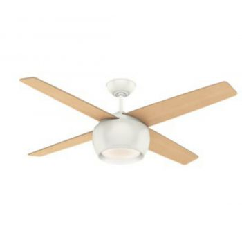 """Casablanca Valby 54"""" LED Indoor Ceiling Fan in White"""