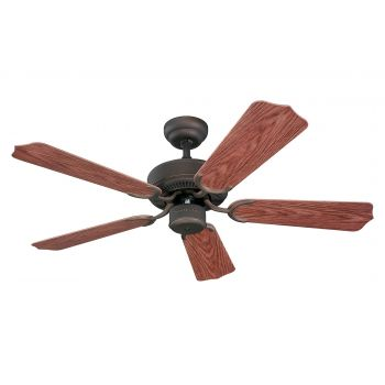 "Monte Carlo 42"" Weatherford II Outdoor Wet Rated Ceiling Fan in Roman Bronze"