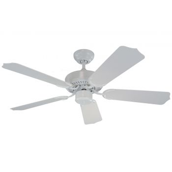 "Monte Carlo 42"" Weatherford II Outdoor Wet Rated Ceiling Fan in White"