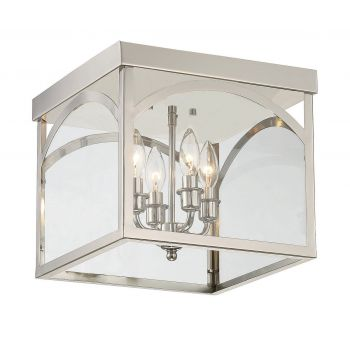 Savoy House Garrett 4-Light Flush Mount in Polished Nickel