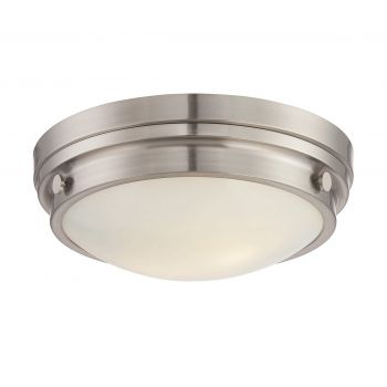 Savoy House Lucerne 2-Light Flush Mount in Satin Nickel