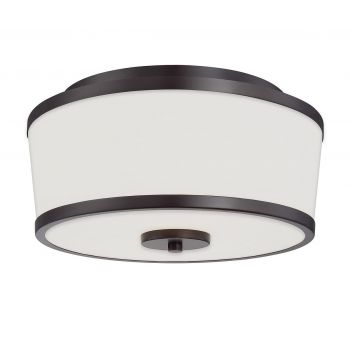 Savoy House Hagen 2-Light Flush Mount in English Bronze