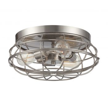 Savoy House Scout 3-Light Flush Mount in Satin Nickel